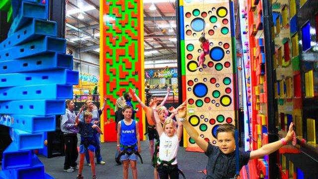 kids climbing at jump and climb play centre traralgon