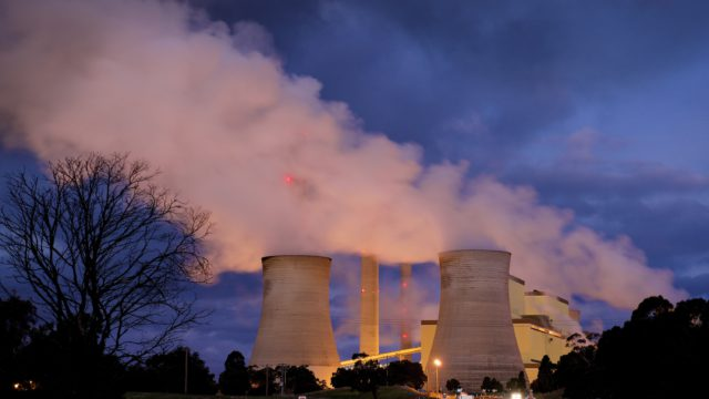 loy yang power station at night